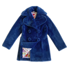 "BIOFUR™ ""Vintage"" Peacoat - Marine Blue - House of Fluff"