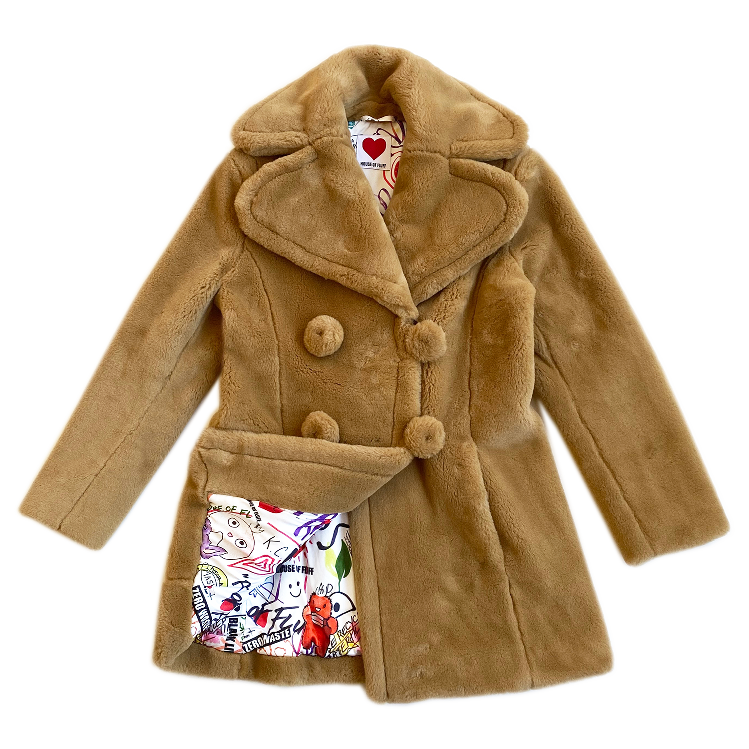 "BIOFUR™ ""Vintage"" Peacoat - Camel - House of Fluff"