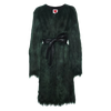 Hunter Green Yeti Cardigan Coat - House of Fluff