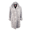 Ivory Curly Shearling Coat - House of Fluff