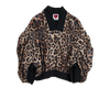 Leopard Ruched Bomber Jacket - House of Fluff