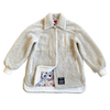100% Recycled Shearling Shacket - Ivory - House of Fluff