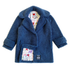 100% Recycled Shearling Oversized Peacoat - French Blue - House of Fluff