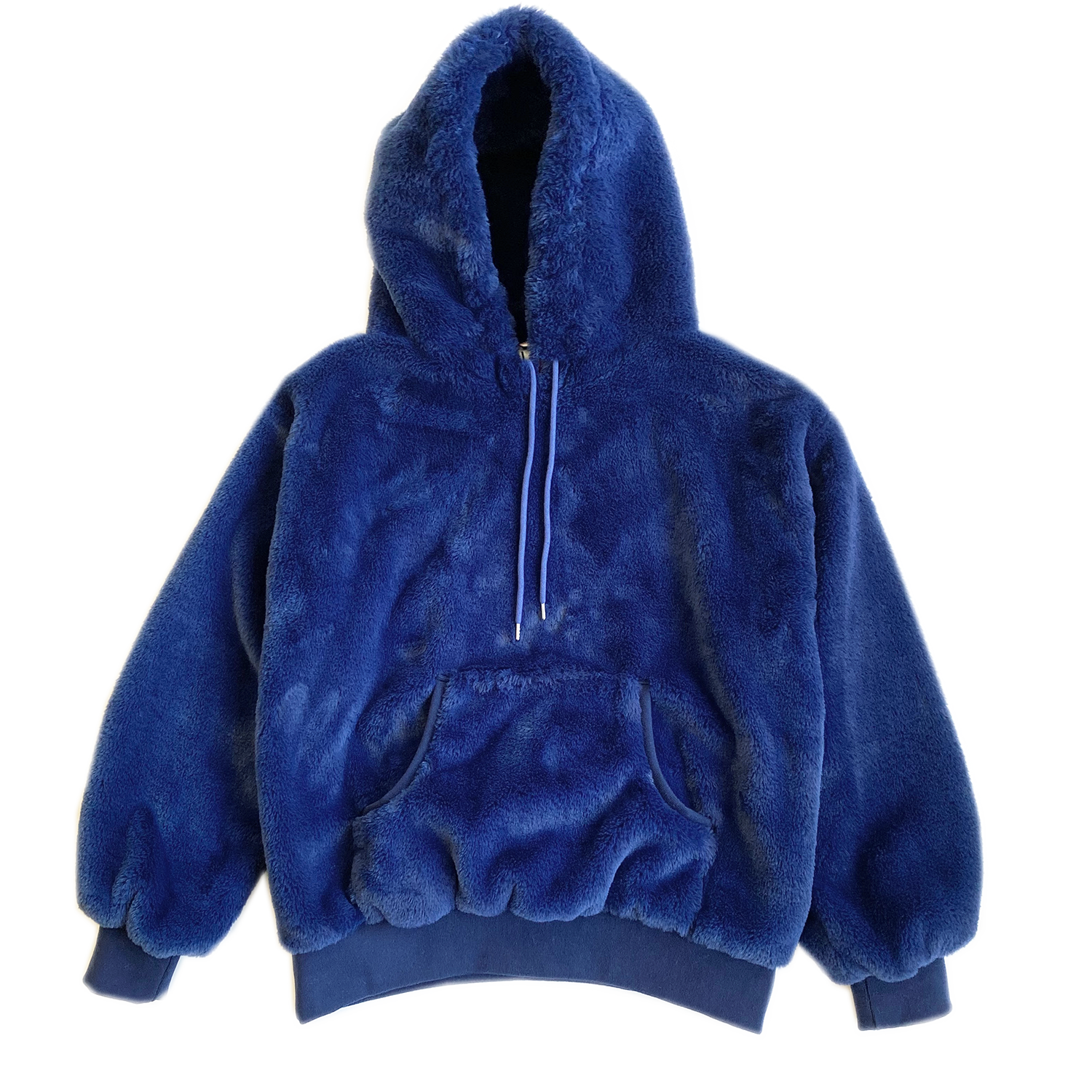 100% Recycled Teddy Hoodie - Marine Blue - House of Fluff