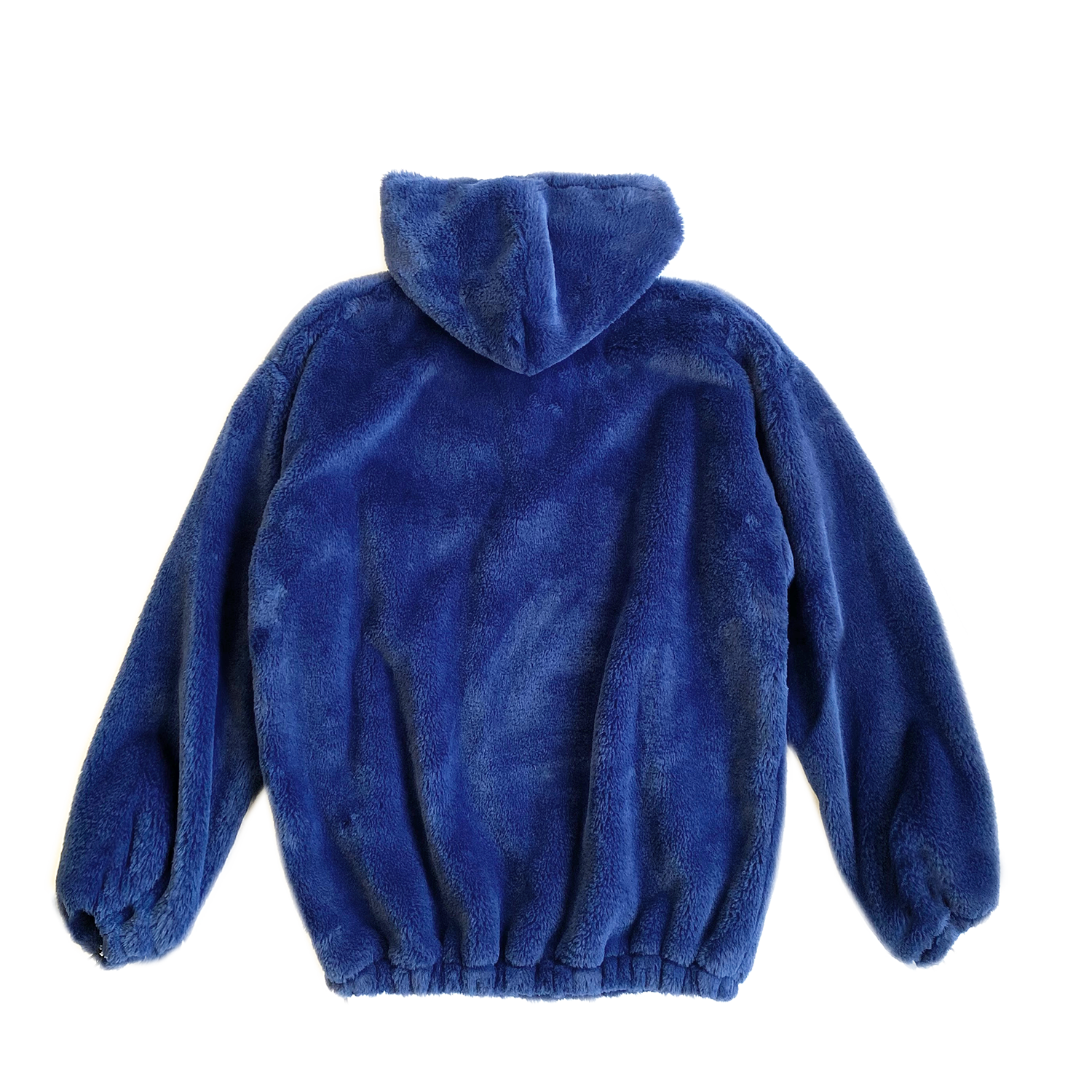 100% Recycled Teddy Lace-up Hoodie - Marine Blue - House of Fluff
