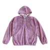 100% Recycled Teddy Lace-up Hoodie - Lavender - House of Fluff