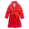 Teddy Bathrobe Coat, Rust - House of Fluff