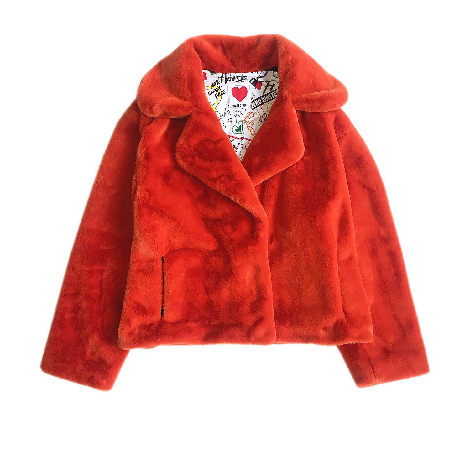 Classic Teddy Jacket, Rust - House of Fluff