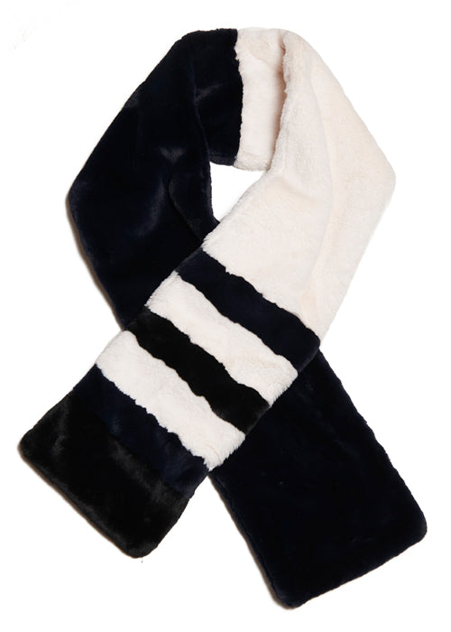 House of Fluff + La Ligne Striped Plush Scarf