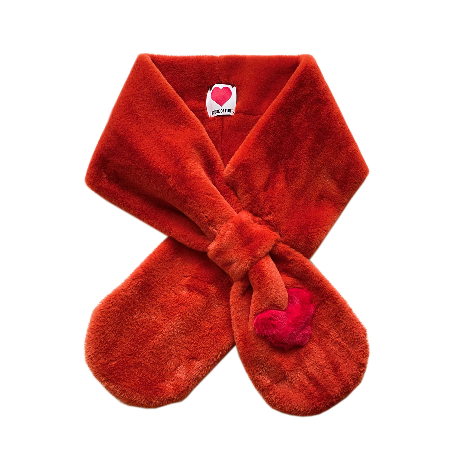 Teddy Love Scarf, Rust - House of Fluff