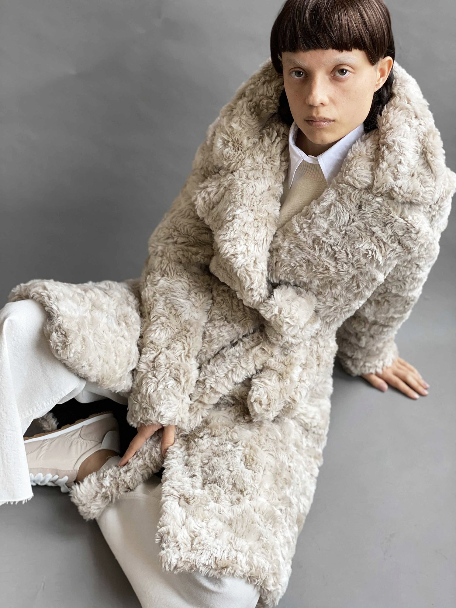 Classic Animal-Free Shearling Coat