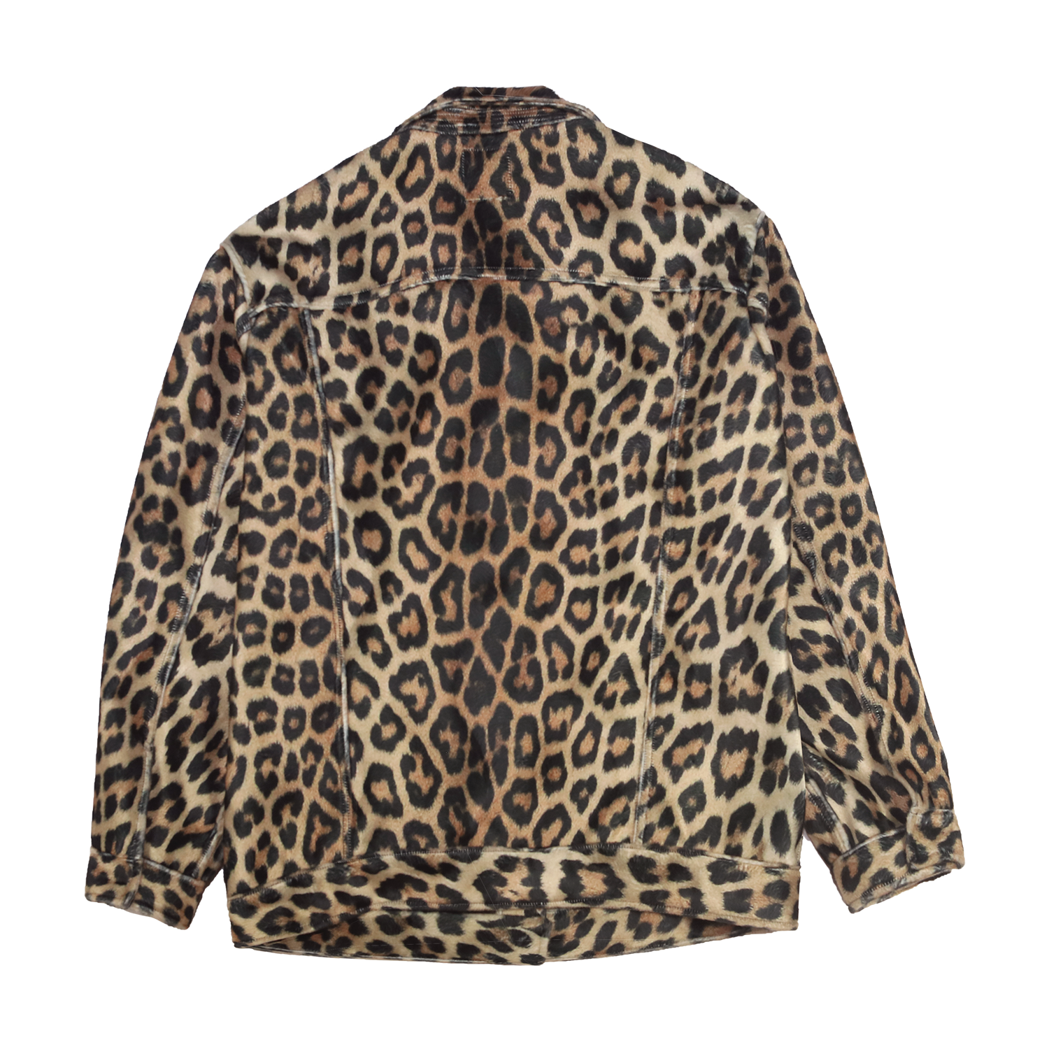 Leopard Trucker Jacket