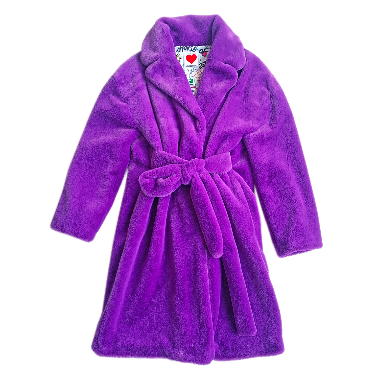 Teddy Bathrobe Coat, Violet - House of Fluff
