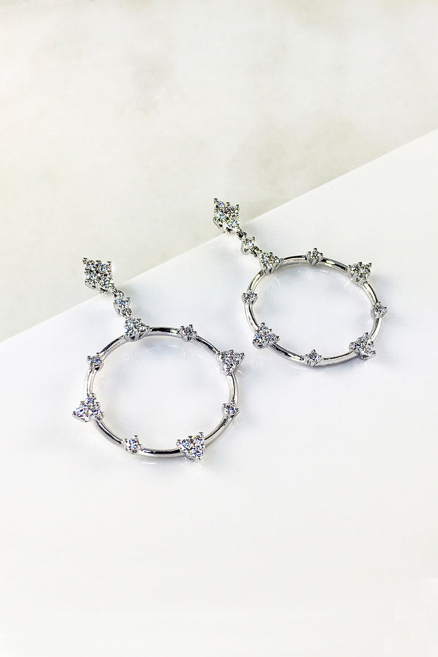 Constellation Circle Earrings