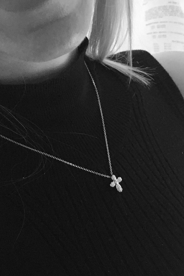 Dainty Diamond Cross
