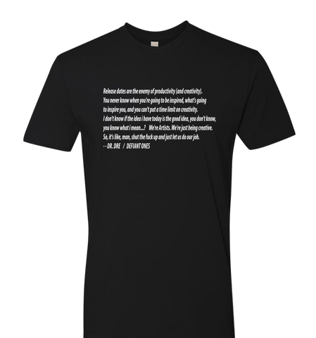 CALIFORNIA LOVE COLLECTION DR DRE QUOTE - TSHIRT