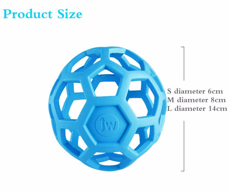 Drain Food Ball Dog Toy Natural Non Toxic Rubber Teddy Golden Dog Geometric Toy Ball