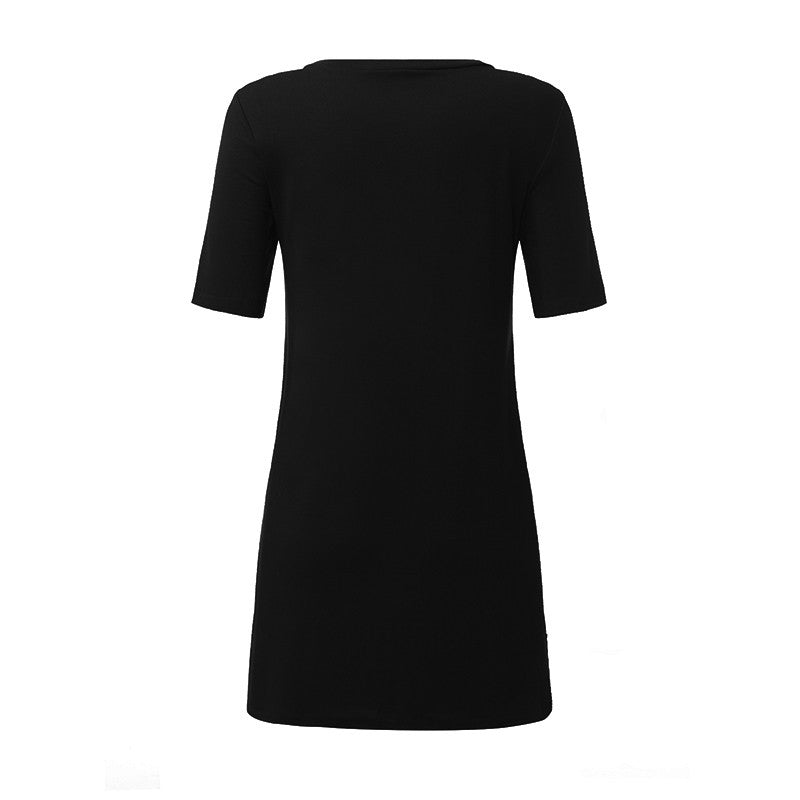 Women Summer Dress 2017 Ladies Sexy V -neck Lace Up Hollow Out Mini Dress Casual Short Sleeve Bandage Vestidos Plus Size