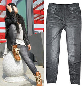 6b056373431a6 Sales Spring Leggings Jeans Women Denim Pants With Pocket Slim Jeggings  Fitness Plus Size Leggings 9