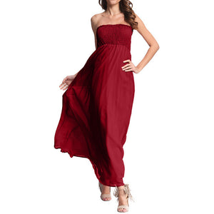 2638ea1eb1 Summer Off-Shoulder Sleeveless Party Beach Party Long Maxi Sundress Dress  Vestidos