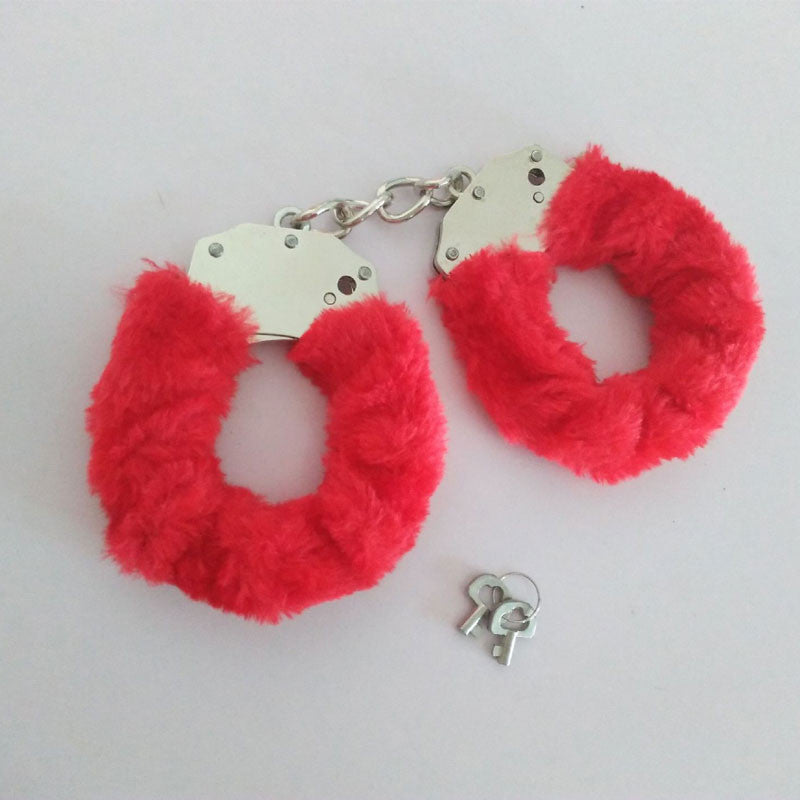 Furry Metal Handcuffs Adult Hen Fancy Dress Love Party Night Gift