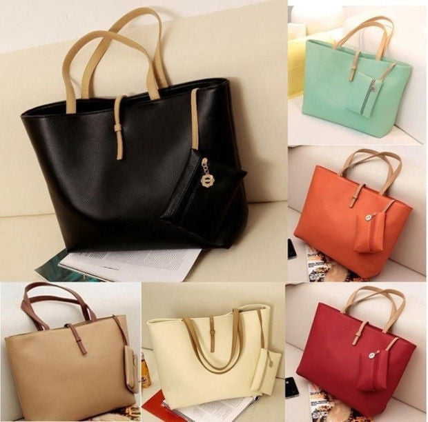 4d845c1605 Women PU Leather Tote Shoulder Bags Hobo Handbags Satchel Messenger bag  Purse ...