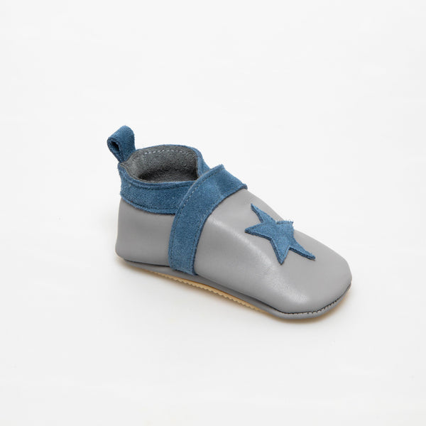 Slipper Baby shoe | Gwenael Grey/Blue