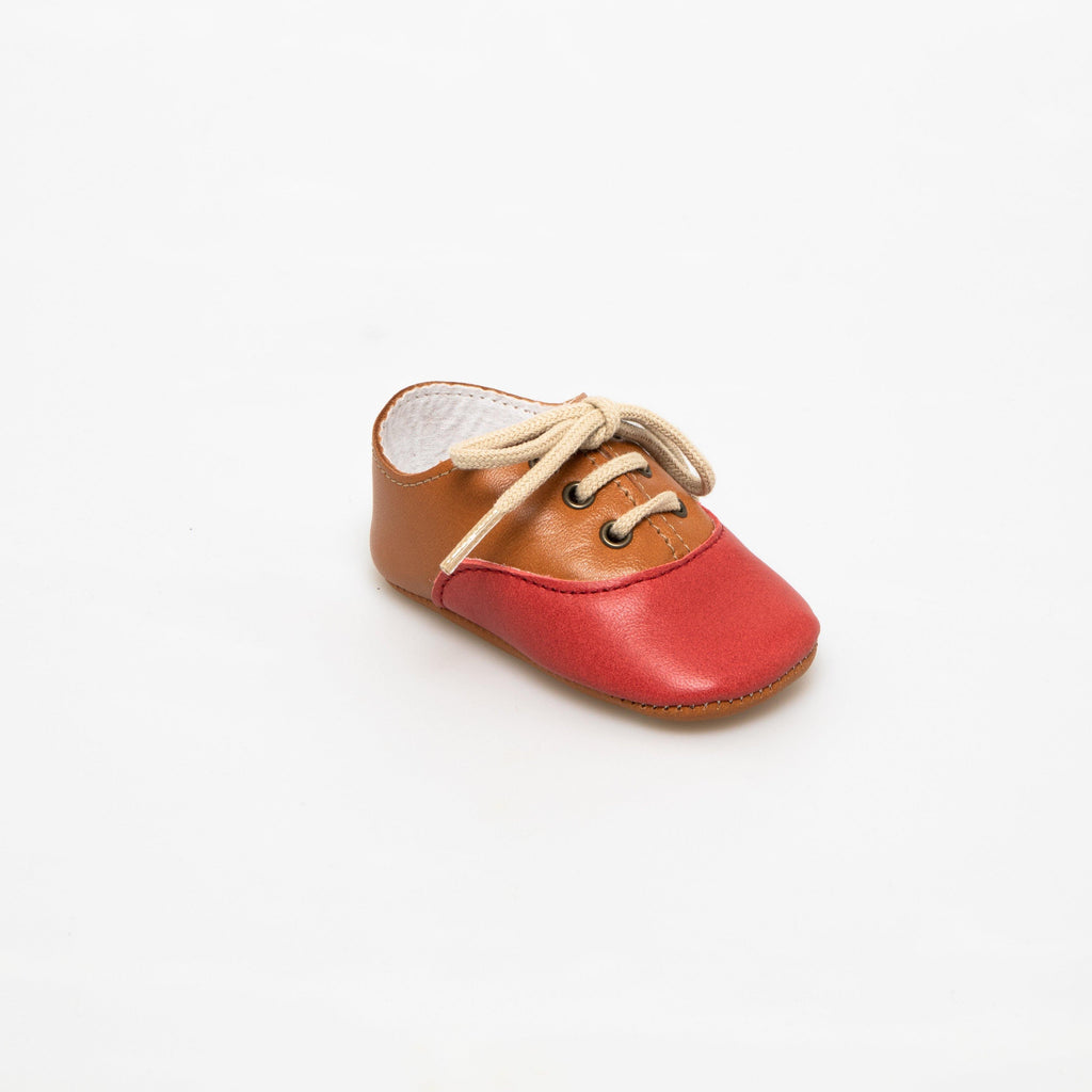 Richelieu baby shoe | Arthur orange & red