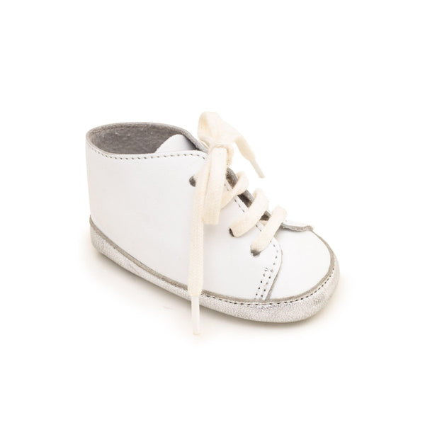 Sneaker Baby shoe & First step shoe | Alex White & Silver