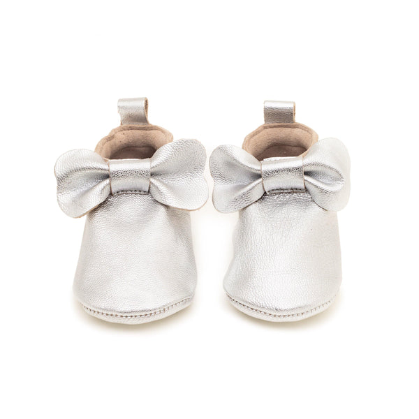 Alice silver | Slipper with bow Baby shoe