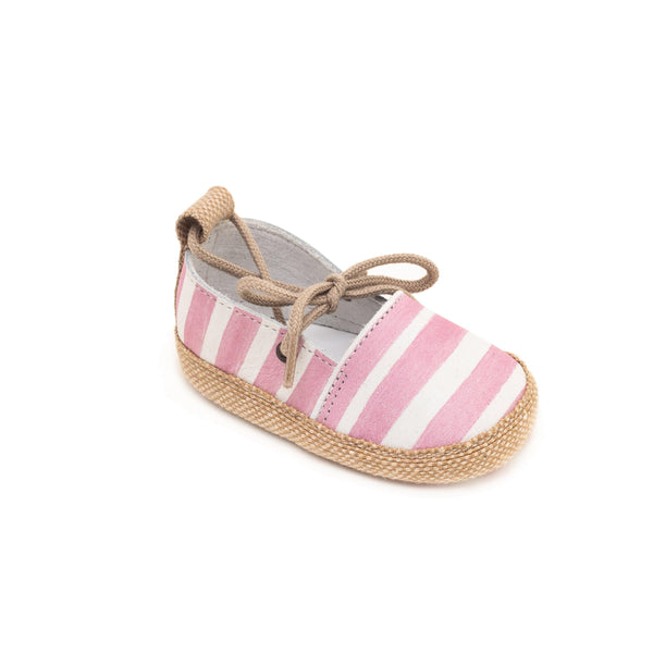 Espadrille Baby shoe & First step shoe | Alix Pink & White
