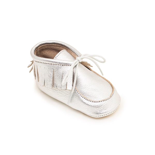 Derby Baby shoe | Anael Silver - Patt'touch English