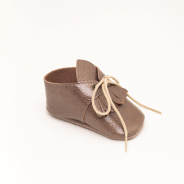 Derby Baby shoe | Augustina Brown glitter - Patt'touch English