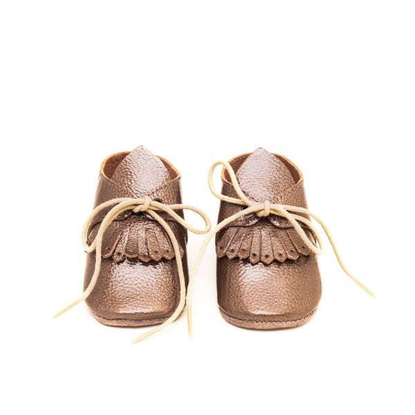 Augustina brown | Botton Baby shoe