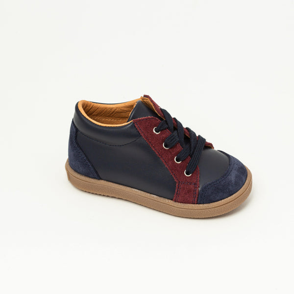 Sneaker Kid shoe | Andy Blue/Bordeaux