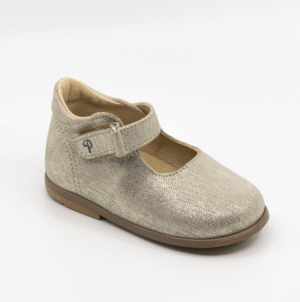 Mary Jane Kid shoe | Dorine Silver - Patt'touch English