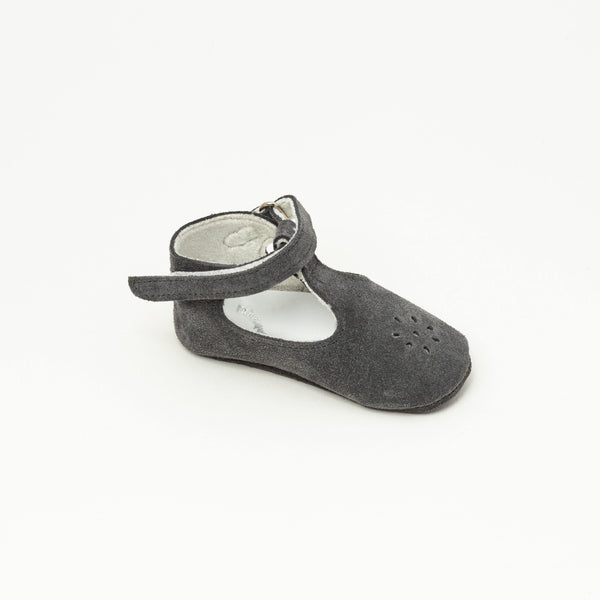 Salome Baby shoe | Eden Grey velvet