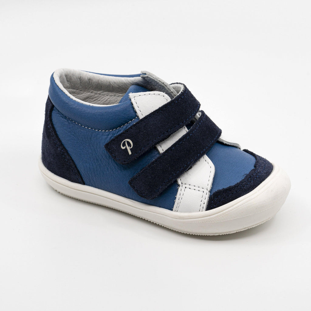 Sneaker Kid shoe | Marcel Blue - Patt'touch English