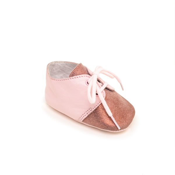 Baby shoe & First step shoe | Lou Light pink & Glitter pink