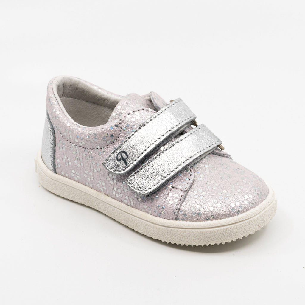 Sneaker Kid shoe | Mael Pink/Silver - Patt'touch English