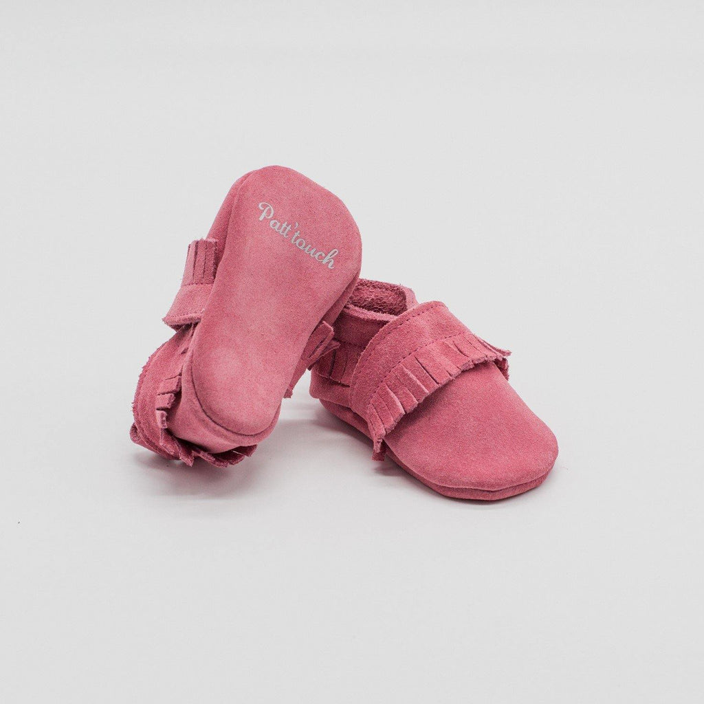 Maxence Pink | Slipper with fringes Baby shoe