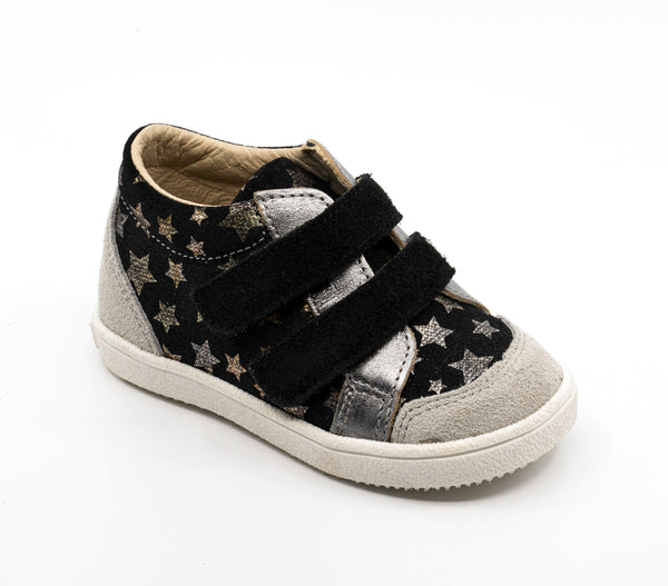 Sneaker Kid shoe | Armel Black with stars