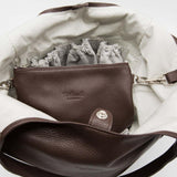 Bordeaux | Brown leather changing bag