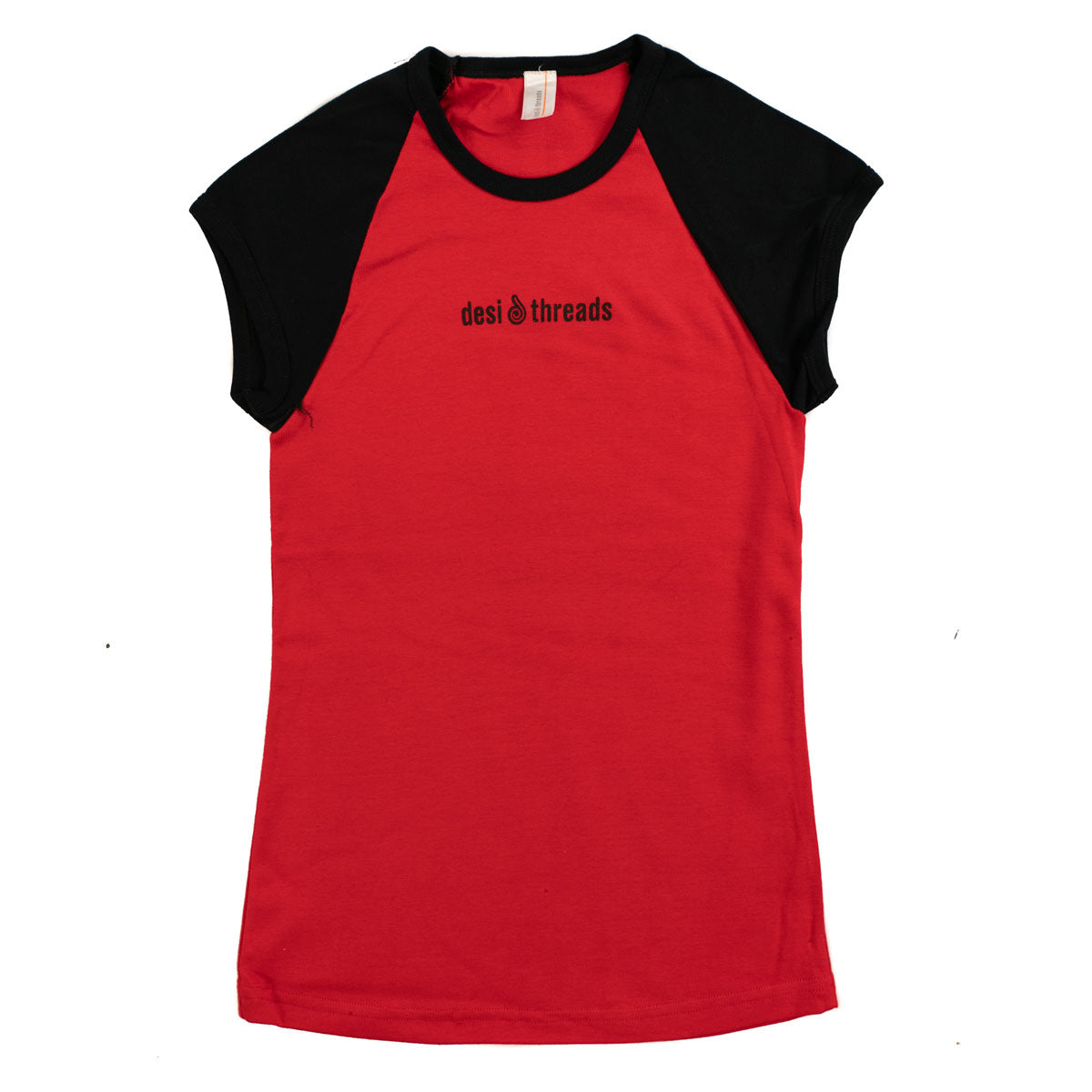 Desi Threads Red Reglan T-shirt