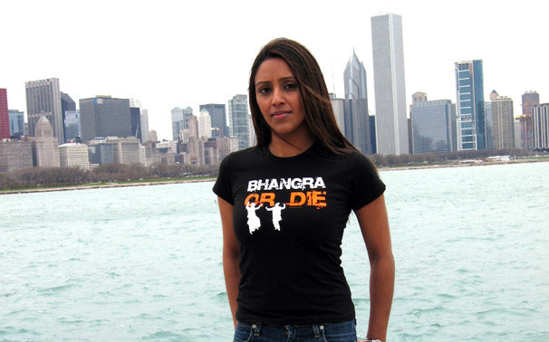 Bhangra or Die Ladies Fitted Tee