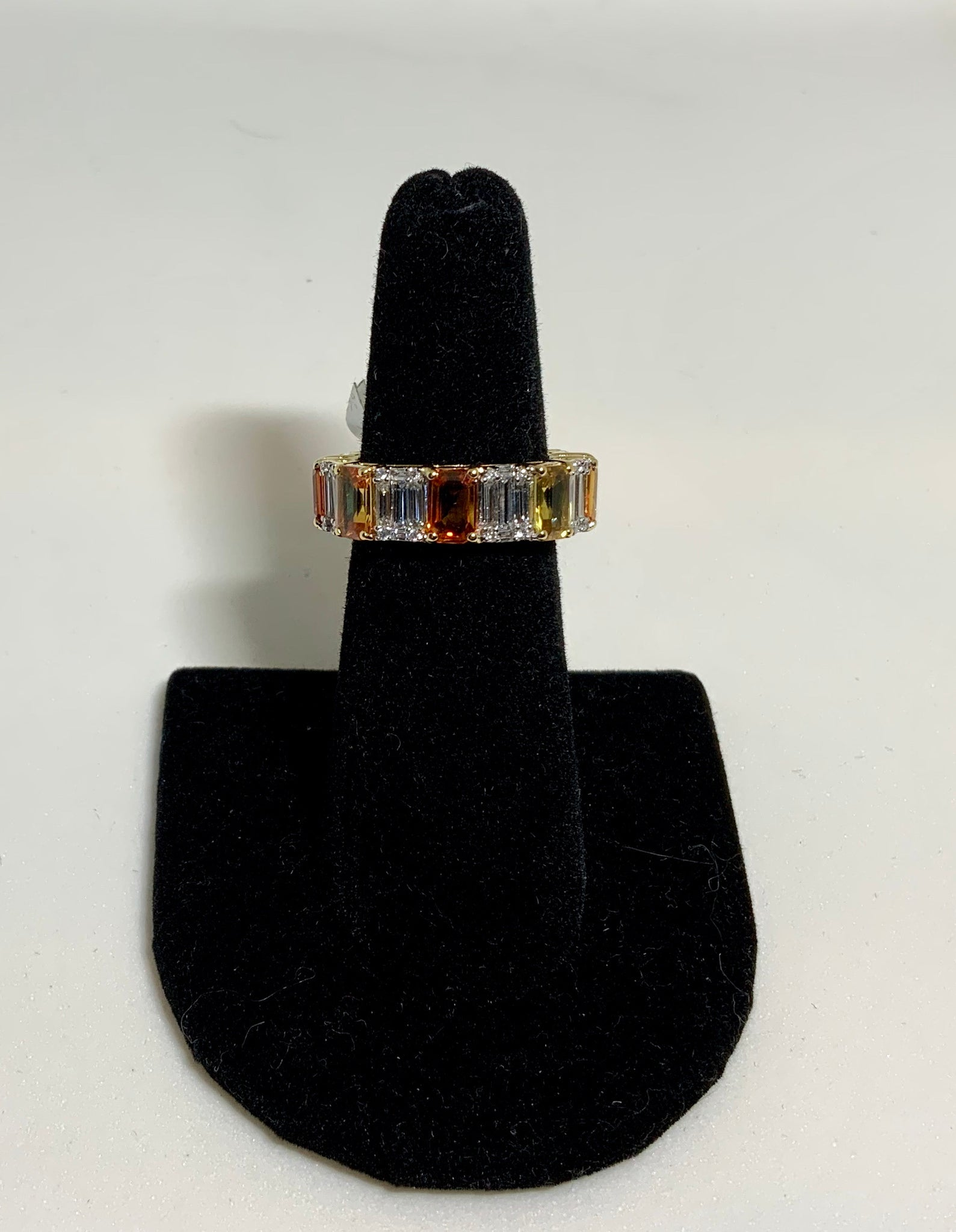 Colored Baguette Ring