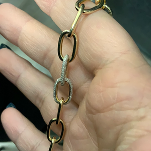 Chain bracelet with double Diamond