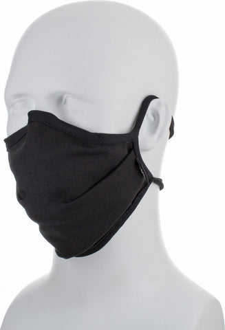 Reusable Antimicrobial Face Mask - Adjustable & Washable (Black)