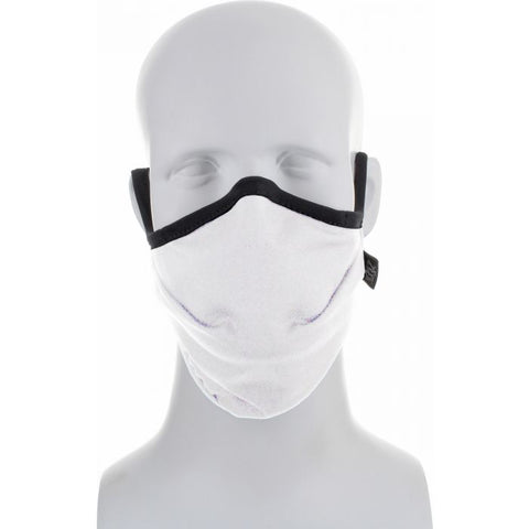 Reusable Antimicrobial Face Mask - Adjustable & Washable (White)