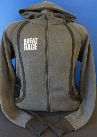 Men's Great Race Charcoal Full-Zip Hoodie